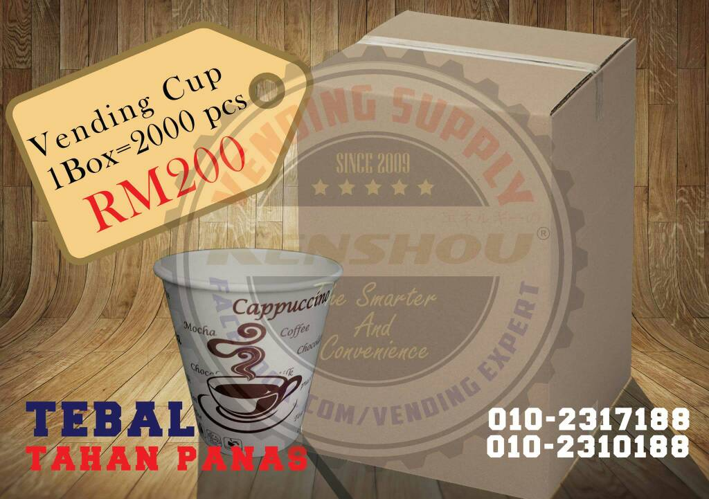 Paper Cup For Vending Machine @ Mesin Layan Diri